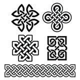 Celtyccy irlandczyków wzory, warkocze i - ilustracji