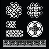 Celtyccy irlandczyków wzory, warkocze na czarnym tle i ilustracji