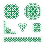 Celtyccy kępki zieleni wzory - Fotografia Royalty Free