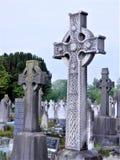 Celtyccy krzyże w Dublin cmentarzu fotografia stock
