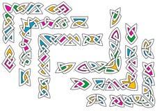 Celtyccy ornamentów wzory ilustracja wektor