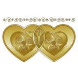 Celtyccy serca Zdjęcia Royalty Free