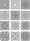Celtyccy tradycyjni ornamenty royalty ilustracja