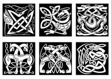Celtyccy zwierzęta dekorujący irlandzki ornament Zdjęcie Royalty Free
