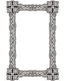 Celtycka dekoracyjna kępki rama Zdjęcie Royalty Free