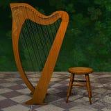 Celtycka harfa dla St Patrick dnia Zdjęcie Royalty Free