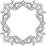 Celtycka kępka kwadrata rama obraz royalty free