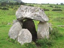 Celtycki grobowiec w Zachodnim Irlandia, Europa, blisko Sligo Zdjęcie Stock