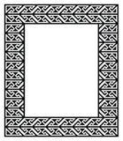 Celtycki Kluczowy wzór - rama, granica Obraz Royalty Free