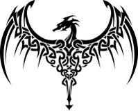 Celtycki smoka tatuaż Obrazy Stock