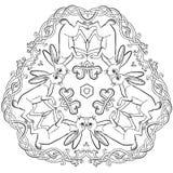 Celtycki zając trójboka ornament zdjęcie royalty free
