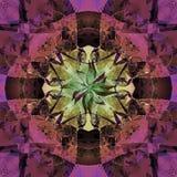 CELTYCKIEGO krzyża mandala, ABSTRAKCJONISTYCZNY tło W fiołku, purpura, CZARNA ilustracji