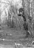 celu pistolecika żołnierza zabranie fotografia royalty free