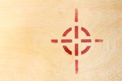 Celu symbol na drewno desce Obrazy Royalty Free