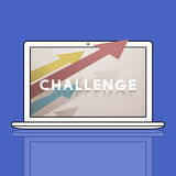Celu ulepszenia wyzwania ikony pojęcie ilustracja wektor