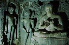 Celui avec le Bouddha méditant Images libres de droits