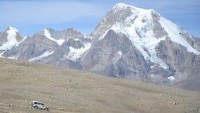 Celui avec les montagnes Photo stock