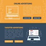 Celujący reklama sztandaru szablon dla stron internetowych w vecto Zdjęcie Stock