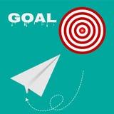 Celuje trasa sukcesu biznes, strategii pojęcia celów wektor EPS 10 royalty ilustracja