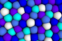 Celular lättnad 3d för Colorist i skuggor Royaltyfri Bild