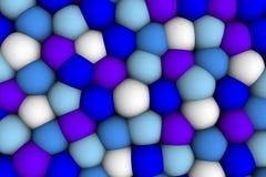 Celular lättnad 3d för mjuk colorist med den blåa whithe och violeten Arkivbilder
