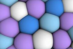 Celular lättnad 3d för stor mjuk colorist Arkivfoto
