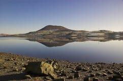 celyn湖llyn snowdonia威尔士 图库摄影