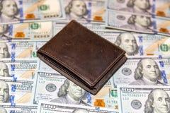 Cem cédulas do americano do dólar Imagens de Stock