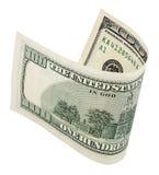 Cem cédulas do dólar com trajeto de grampeamento Foto de Stock