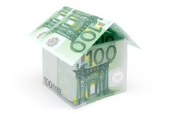 Cem casas de campo pequena do euro Imagem de Stock