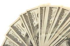Cem contas de dólar Fotos de Stock