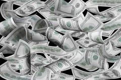 Cem contas de dólar Imagem de Stock