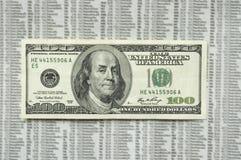 Cem contas de dólar irritada. Imagens de Stock Royalty Free