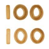 Cem dígitos dos biscoitos russian imagem de stock