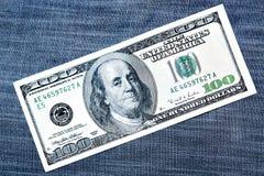 Cem dólares Imagem de Stock Royalty Free