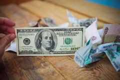 Cem dólares Imagem de Stock