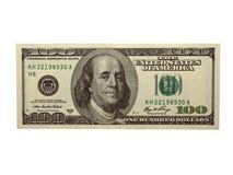 Cem dólares Bill Fotografia de Stock