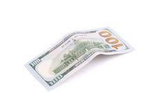 Cem dólares Bill Fotos de Stock Royalty Free