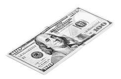 Cem dólares Bill Imagem de Stock