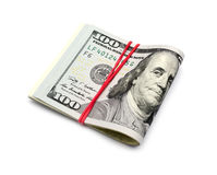 Cem dólares de cédulas Imagens de Stock