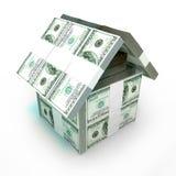 Cem dólares de casa Fotografia de Stock