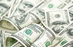 Cem dólares de montão das contas Fotografia de Stock Royalty Free