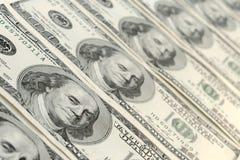 Cem dólares de notas de banco Fotos de Stock Royalty Free