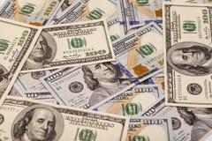 Cem dólares de pilha Foto de Stock