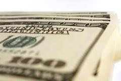 Cem dinheiros do dólar Foto de Stock Royalty Free