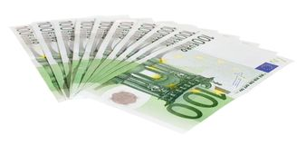 Cem euro- contas Imagem de Stock