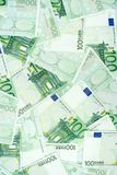 Cem euro- notas de banco Fotografia de Stock