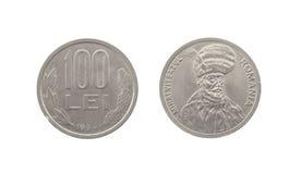 Cem leus de Romênia Fotos de Stock Royalty Free