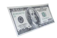 Cem notas #5 do dólar Imagens de Stock Royalty Free