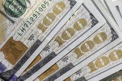 Cem 100 notas de dólar Foto de Stock